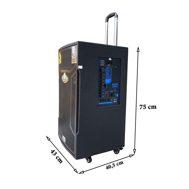 kích thước loa kéo di động Best BT-6800